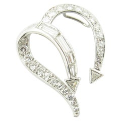 Platinum Diamond Open Heart Slide Pendant