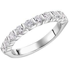Platinum Diamond Partial Bar Set Band Weighing