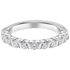 Platinum Partial 10 Diamonds Bar Set Band