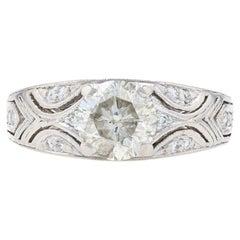 Platinum Diamond Ring, 900 Round Brilliant Cut 1.65 Carat