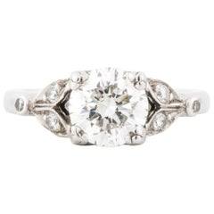Platinum Diamond Ring GIA Certified