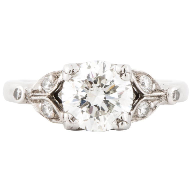 Platinum Diamond Ring GIA Certified For Sale