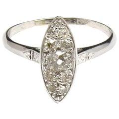 Platinum Diamond Ring with Old Miner Diamonds