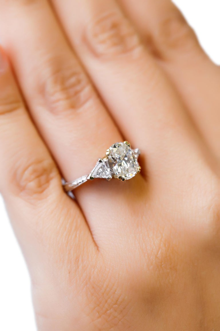 Platinum Diamond Solitaire Ring Engagement Ring Designed By Tacori  Triple cluster halo diamond engagement ring. Fashioned in platinum, is the perfect way to say
