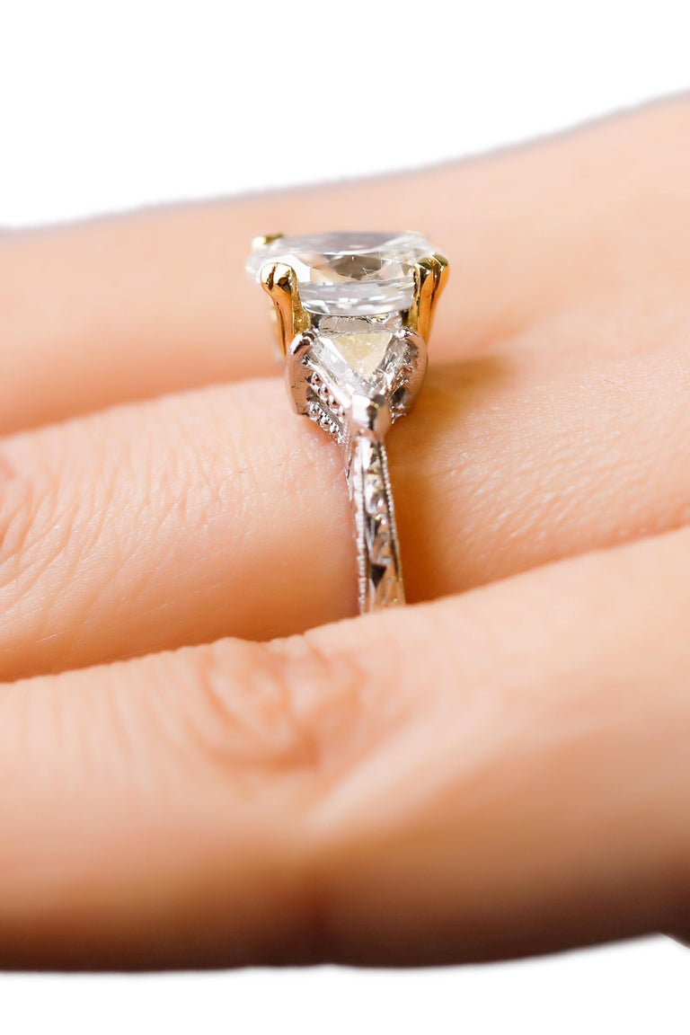Platinum 2.5 TCW Diamond Solitaire Ring Engagement Ring Designed by Tacori  For Sale 1