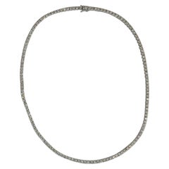 Platinum Diamond Straight Row Diamond Necklace
