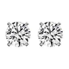 Platinum Diamond Stud Earrings '1/2 Carat'
