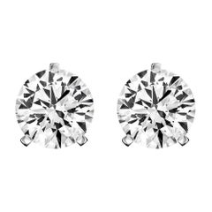 Platinum Diamond Stud Earrings '1 Carat'