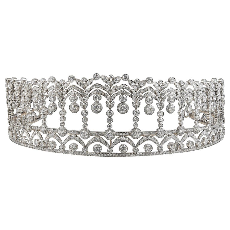Platinum and diamond tiara, 40 carats, 1950s, Yafa Signed Jewels