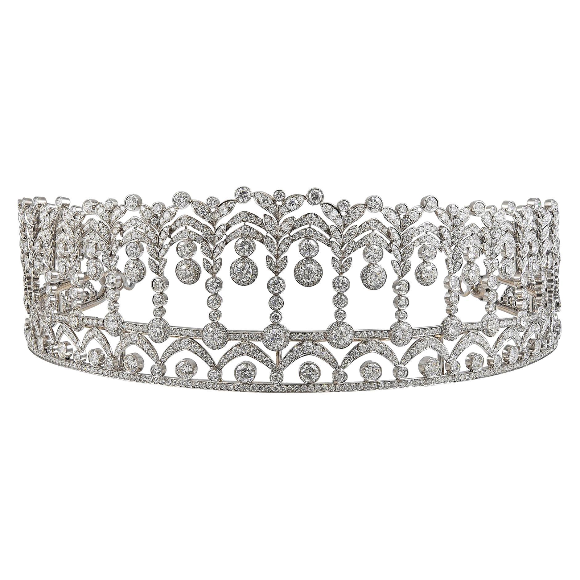 Diamond Platinum Tiara