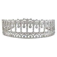 Platinum Diamond Tiara, 40 Carat