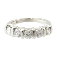 Platinum Diamond Wedding or Anniversary Band