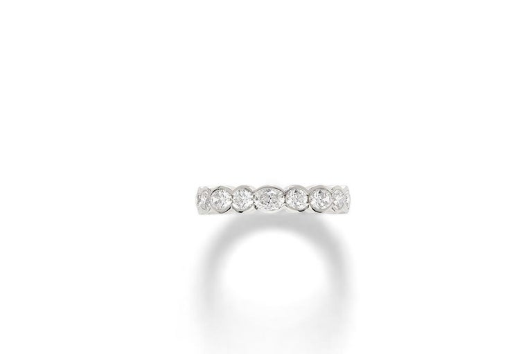 Round Cut Platinum Diamond Wedding Band For Sale