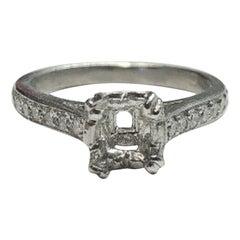 Platinum Diamond Wedding Semi Mount Ring