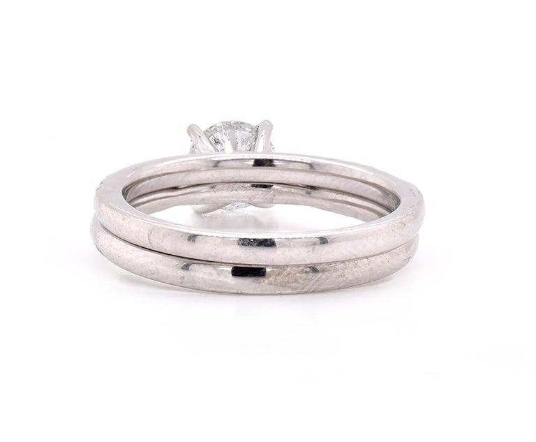Platinum Diamond Wedding Set In Excellent Condition For Sale In Scottsdale, AZ