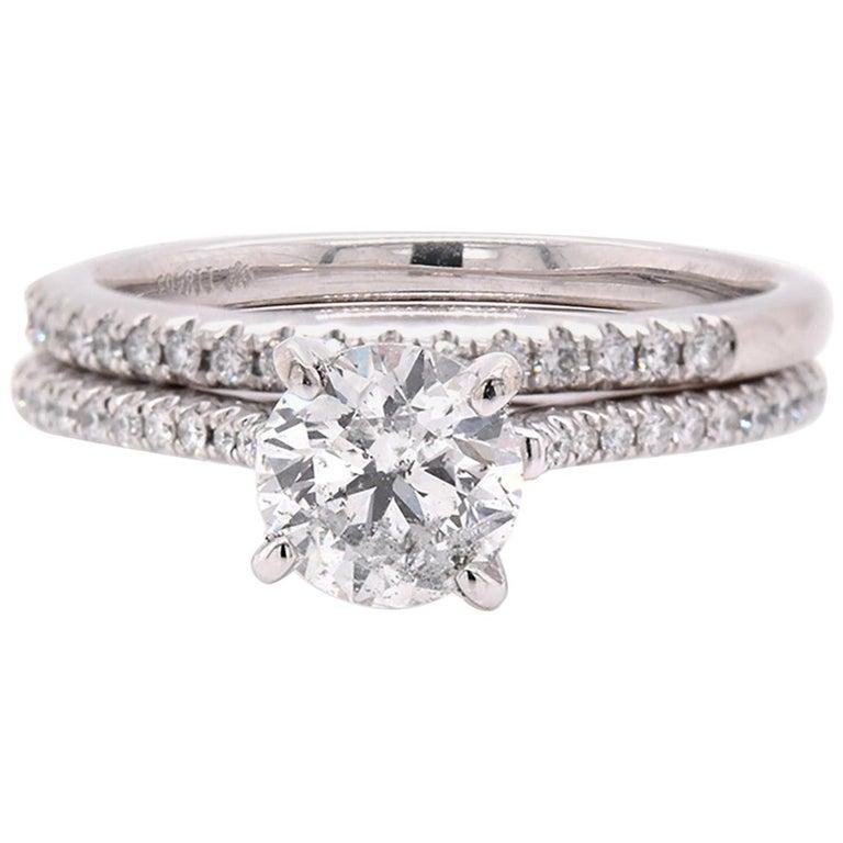 Platinum Diamond Wedding Set For Sale