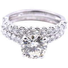 Platinum Diamond Wedding Set