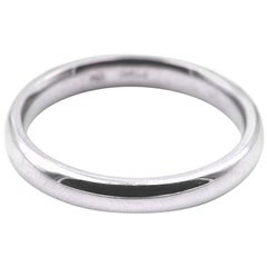Platinum Domed Wedding Band