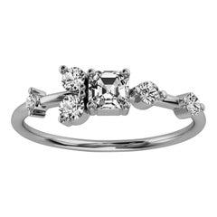 Platinum Dorota Delicate Organic Design Diamond Ring '2/5 Ct. Tw'