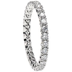 "Platinum ""Duvet"" Wedding Band Set with Round Diamonds by Leon Mege"