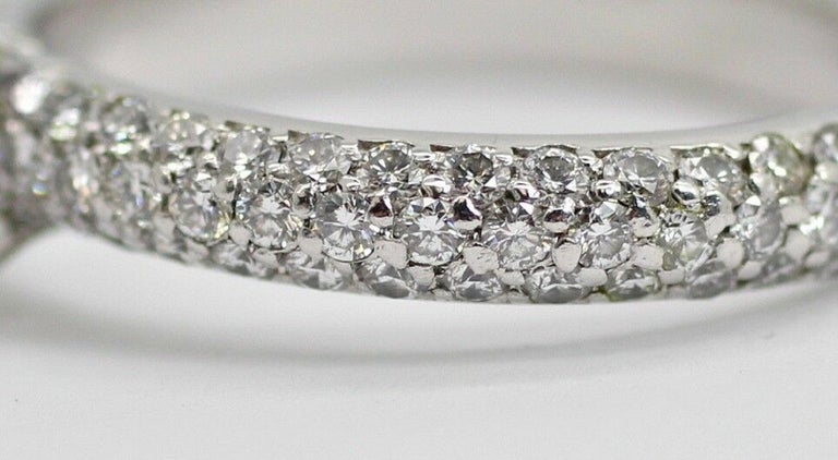 Platinum EGL Certified Princess Cut Diamond 1.00ct Color