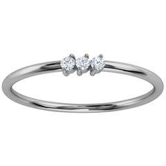Platinum Elissa Minimalist Organic Design Diamond Ring '1/20 Ct. Tw'