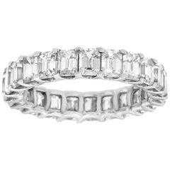 Platinum Emerald Eternity Diamond Ring '4 1/2 Carat'
