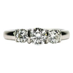 Platinum Est. 1.25 Carat Diamond 3-Stone Trinity Engagement Ring