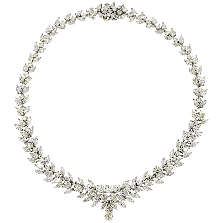 Platinum Estate 54.84 Carat Diamond Necklace