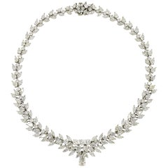 Platinum Estate 54.84 Carat Diamond Necklace