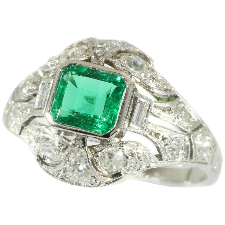 Engagement Ring For Sale Grande Prairie: Platinum Estate Diamond Engagement Ring With Truly