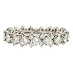Estate Diamond Platinum Eternity Ring