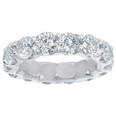 Platinum Eternity Ring 5.50 Carat