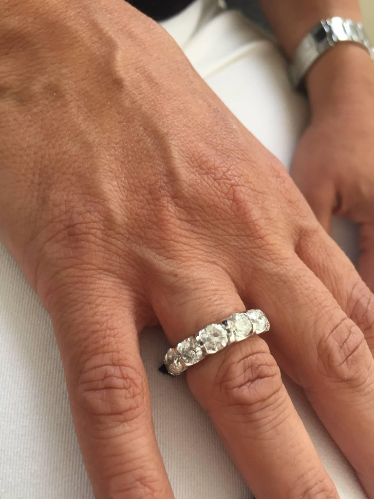 Platinum Eternity Ring 7 Carats. In New Condition For Sale In Great Neck, NY