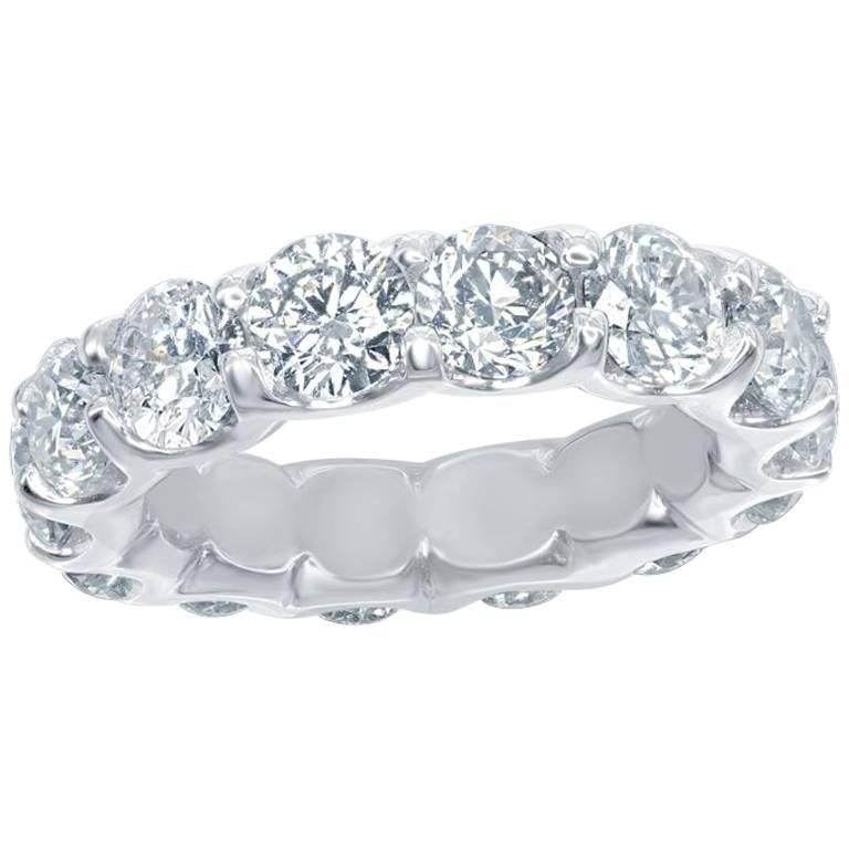 Platinum Eternity Ring 7 Carats. For Sale