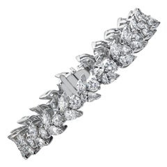 Platinum Fancy Diamond Bracelet, 14.35 Carat