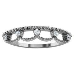Platinum Fel Petite Organic Design Diamond Ring '1/10 Ct. Tw'