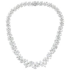 Platinum Flower Diamond Necklace