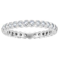 Platinum Flush Prong Set Diamond Eternity Ring '2/3 Carat'