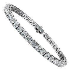 Platinum Four Prongs Diamond Tennis Bracelet '10 Carat'