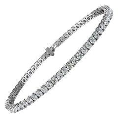 Platinum Four Prongs Diamond Tennis Bracelet '4 Carat'