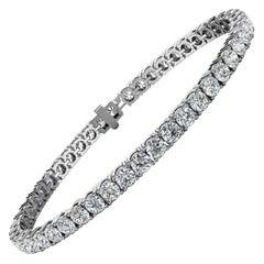 Platinum Four Prongs Diamond Tennis Bracelet '7 Ct. tw'