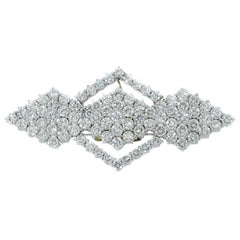 Platinum Geometrical Shaped Diamond Brooch
