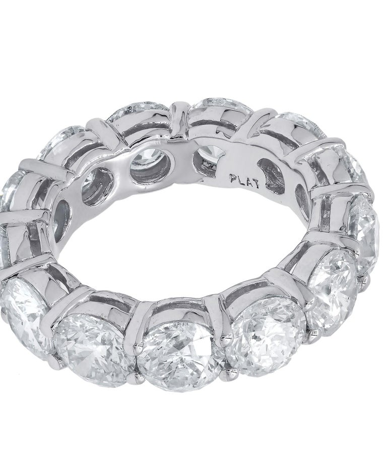 Platinum GIA Certified 13.14 Carat Diamond Eternity Band, 'D-F VVS-VS' In New Condition For Sale In New York, NY