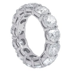 Platinum GIA Certified 13.14 Carat Diamond Eternity Band, 'D-F VVS-VS'