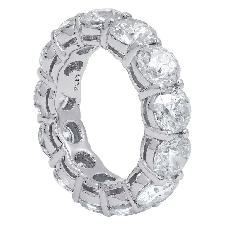 Platinum GIA Certified 13.14 Carat Diamond Eternity Band, 'D-F VVS-VS' For Sale