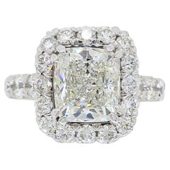 Platinum GIA Certified 4.00 Carat Diamond Engagement Ring