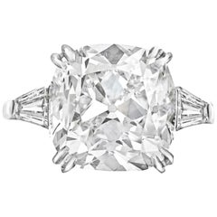 Platinum GIA Certified 5.52 F-SI Carat Diamond Ring