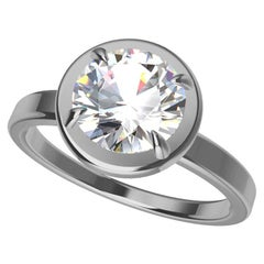 Platinum GIA Certified Diamond Engagement Ring