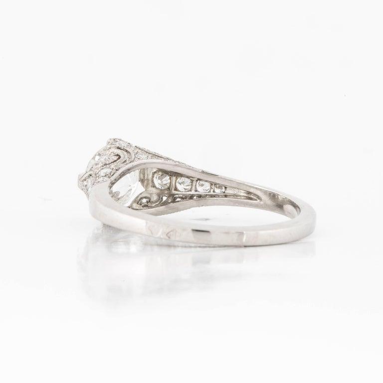 Women's or Men's Platinum GIA Certified Diamond Ring For Sale